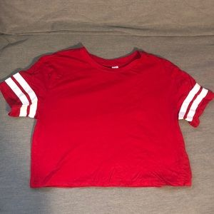 Red crop top from H&M